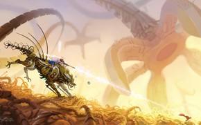 Picture Robot, Weapons, Protein, Robot, Fiction, Wolf, Ghibli, Mononoke, Asur Misoa, by Asur Misoa, Mononoke hime …