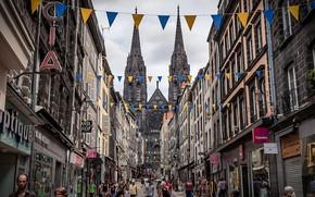 Picture the city, street, France, France, the Church, Clermont-Ferrand, Клермон-Феран, Ferrand Centre