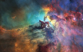 Picture space, nebula, stars