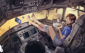 Picture girl, fiction, devices