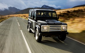 Picture road, 2008, Land Rover, Defender, SVX, 60th Anniversary Edition