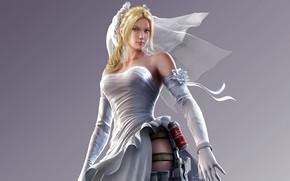 Picture girl, fighter, Nina, blonde, Tekken, Nina Williams, video games, charliehgl