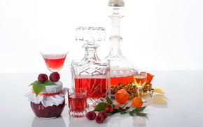 Picture berries, raspberry, jam, tincture