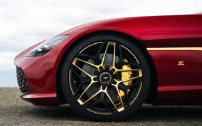 Picture red, Aston Martin, coupe, wheel, Zagato, 2020, V12 Twin-Turbo, DBS GT Zagato, 760 HP