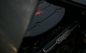 Picture black, Maserati, 1969, Roadster, spider, under the hood, Ghibli Spider