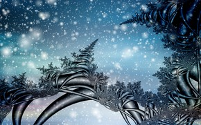 Picture winter, snow, fractals