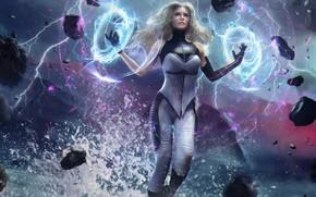 Picture energy, girl, stones, fiction, art, nero awakening