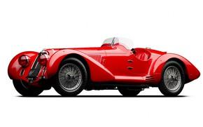 Picture Red, Retro, Alfa Romeo 8C 2900 Mille Miglia Spider 1938