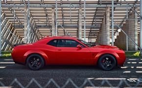 Picture Dodge Challenger, SRT Demon, Dragster