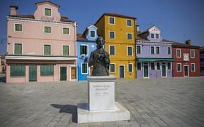 Picture Italy, monument, Venice, Burano island
