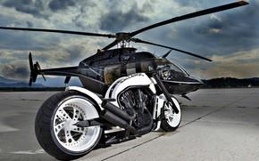 Picture Gallardo, Helicopter, Custom, Motorcycle