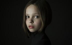 Picture girl, freckles, Maria Davydenko