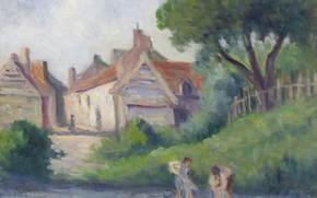 Picture landscape, picture, Maximilien Luce, Maximilien Luce, Picquigny