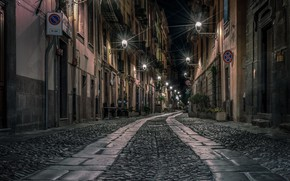 Picture night, the city, street, lights
