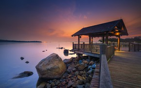 Picture Bay, glow, gazebo