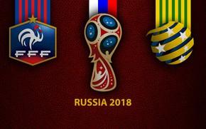 Picture wallpaper, sport, logo, football, FIFA World Cup, Russia 2018, France vs Australia