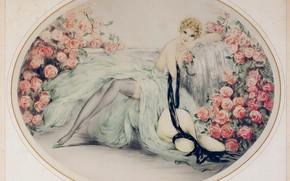 Picture 1933, Louis Icart, Beautiful roses