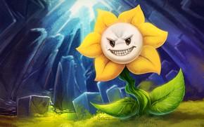 Picture flower, being, predatory, Undertale, Undertail