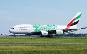 Picture Airplanes, Airbus, A380, the plane, photo
