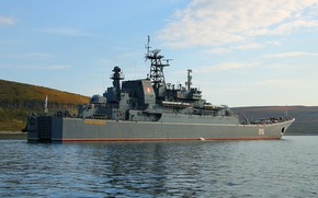 Picture ship, large, George, landing, The Northern Fleet