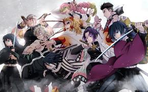 Picture anime, art, characters, The Blade Cleaves Demons, Demon Slayer: Kimetsu No Yaiba