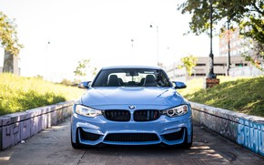 Picture BMW, Blue, F80, Sight, LED