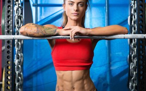 Picture bar, tattoo, fitness, fitness model, abs