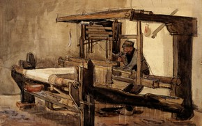 Picture hard worker, Weaver, Vincent van Gogh