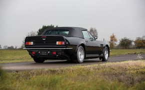 Picture Black, British car, Aston Martin V8 Vantage Volante