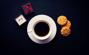 Picture coffee, cookies, Cup