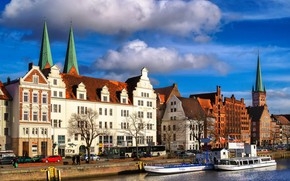 Picture home, Germany, Lubeck, promenade