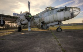 Picture aviation, the plane, the airfield