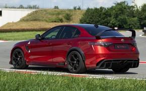 Picture grass, lawn, Alfa Romeo, Giulia, GTAm, 2020, Gran Turismo Alleggerita changed