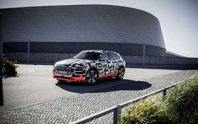 Picture Audi, construction, Parking, 2018, E-Tron Prototype