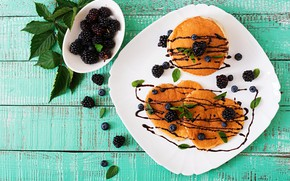 Picture berries, Breakfast, pancakes, Timolina