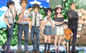 Picture anime, characters, Kimi no VA On, Your name