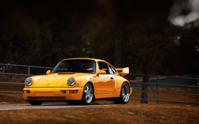 Picture Auto, Yellow, 911, Porsche, Machine, Porsche 911, Carrera, 1993, Sports car, Porsche 911 Carrera, 911 …