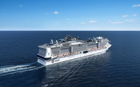 Picture The ocean, Sea, Liner, The ship, Passenger ship, MSC, Cruise Ship, Passenger Ship, MSC Cruises, ...