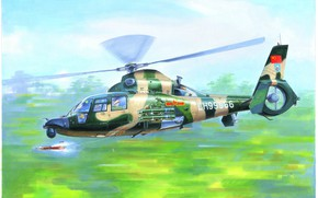 Picture ATGM HJ-8E, shock modification, Harbin, Chinese multipurpose helicopter, the upgraded version, Z-9WA