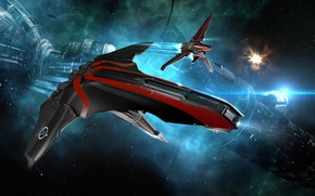 Picture space, station, space, ruins, battle, spaceship, station, eve online, battle, space ship, coooper