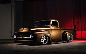 Picture Ford, Truck, Custom, Pick up, Vehicle, Ford F-100
