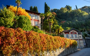 Picture autumn, Italy, Lombardy, Varenna