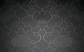 Picture retro, pattern, wallpaper, black background, ornament, vintage