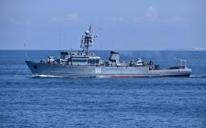 Picture sea, aquamarine, minesweeper, project 266m, Ivan holubec