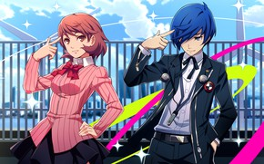 Picture girl, the game, anime, art, guy, characters, Persona 4, Person 4