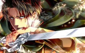 Picture blood, blade, Attack Of The Titans, Shingeki No Kyojin, Levi