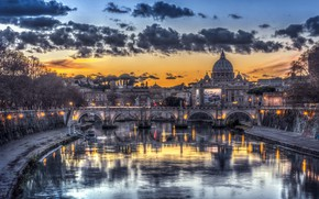 Picture Italy, Roma, Vatican sunset