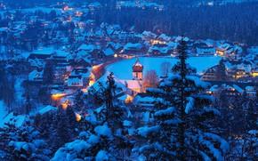 Picture winter, Germany, Baden-Württemberg, Hinterzarten