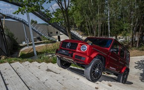 Picture red, Mercedes-Benz, SUV, 4x4, G-Class, tests, 2019