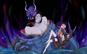 Picture water, girls, hands, the demon, claws, Onmyouji, Onmyoji, Hannya, Onmyouji (NetEase)